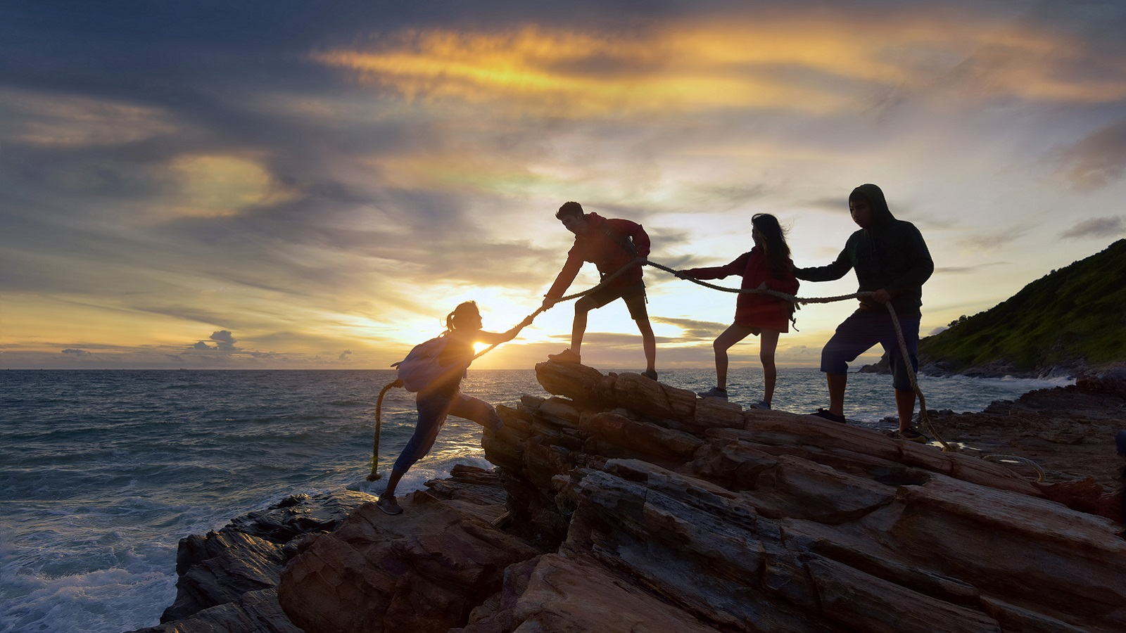 Hikers Hiking Social Media